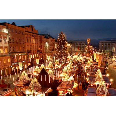 Новогодние огни Львова и Луцка